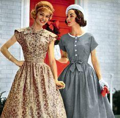 Bờm tóc (Hair band), váy áo họa tiết, tay hến, chi tiết nhỏ như bọc viền, đính khuy khiến trang phục mang phong cách cổ điển vintage.