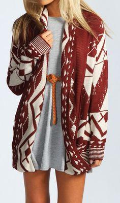 Geo print sweater