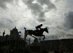 REPIN it if you love it! Team USA's Rich Fellers riding Flexible during the equestrian individual jumping final. (Photo credits: Brian Snyder/Reuters & NBC Olympics)
