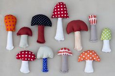 DIY Mushroom - Ukkonooa - more food for Nora and another use for fabric scraps.