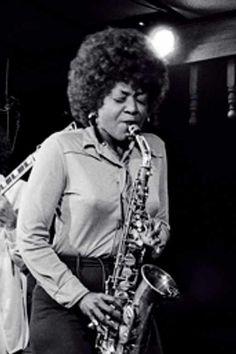 alto saxophone player, Vi Redd (1977)