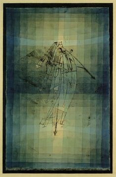 Paul Klee (Swiss:1879-1940), Dance of the Moth, 1923. Oil transfer drawing, pencil and watercolor on paper with watercolor, pen and gouache marginal stripes, mounted on card, 51.5 x 32.5 cm, Aichi Prefectural Museum of Art, Nagoya, Japan.
