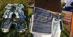 Great idea! Make a tool/utility belt from old jeans!!! Great for the crafter/builder.