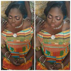 I Do Ghana   Congrats to Audrey   @imagebloombysaida   kente bride   African wedding