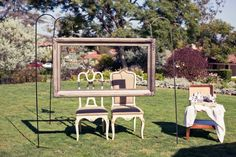 Outdoor Photo Booth set up