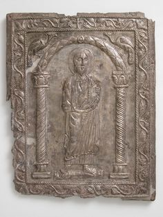Plaque with Saint Paul 550–600 Byzantine Early Christian, Christian Art, Constantine The Great, Carolingian, Byzantine Art, Medieval Art, Dark Ages, North Africa, Roman Empire