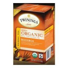 Organic Rooibos Tea: caffeine free and a great substitute for those of us who love Earl Grey or English Breakfast teas.  An anti-oxidant and delicious.