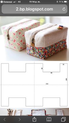 DIY Block Zip Pouch Sew Pattern Tutorial with Template Midnight Quilt Show, Pouch Tutorial, Cosmetic Bag Tutorial, Handbag Tutorial, Tutorial Diy, Tutorial Sewing, Sewing Tutorials, Zipper Pouch, Sewing Patterns