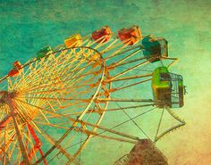 SALE  Carnival photography October nursery print ferris by bomobob, $21.00