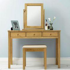 Atlanta-Oak  Vanity & Mirror > 화장대 | 아리아퍼니쳐