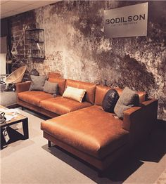 Chile Lounge - Lilly is Love Sofa Design, Living Room Sofa, Living Room Decor, Cowhide Furniture, Rustic Sofa, Cosy House, Furniture Showroom, Upholstered Sofa, Living Room Lighting