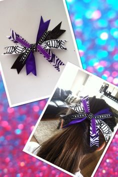 Bows me and my friend made for our volleyball team. Go Delta! Volleyball Hair Bows, Volleyball Bows, Volleyball Posters, Volleyball Hairstyles, Diy Hair Bows, Diy Bow, Fashion Models, Volleyball Training, Sport Craft