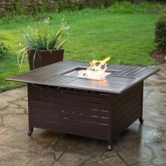Red Ember Longmont 45 in. Square Propane Fire Pit Table - Fire Pits at Hayneedle