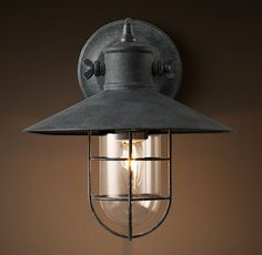 Harbor Sconce - Weathered Zinc