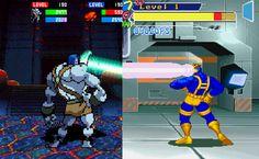 Giant Vs. Cyclops Left: Guardian Heroes / ガーディアンヒーローズ (Saturn - Treasure, Sega - 1996) Right: X-Men: Children of the Atom / エックス・メン チルドレン オブ ジ アトム (Arcade - Capcom - 1994)