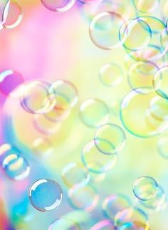 Bubbles of Happiness with Colours of Rainbows. ❤