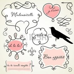 French labels, tags, printable, Paris party idea, French party
