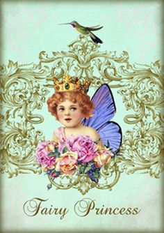 FAIRY DUST digitale Collage blad Instant Download Paper Crafts kaart oorspronkelijke grillige veranderde kunst door Gallery Cat CS90