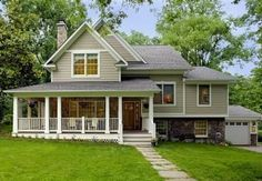 """Encompass Design/Build took home the """"Best Whole House Remodel in the $250,000 to $500,000 range"""" for this project in Vienna. To transform the outdated split-level above into the Craftsman-Style home below, Encompass created a multi-level roof with gables and dormers..."""
