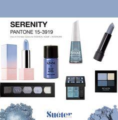 makeup Pantone 2016 Serenity - Blue