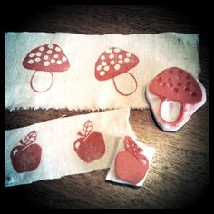 Tutorial: How to print onto fabric using a rubber stamp