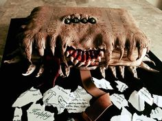 I made a Monster Book of Monsters cake for a...