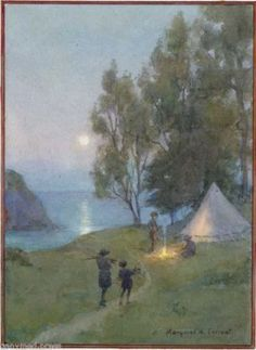 Margaret-Tarrant-Camp-by-the-Sea-GIRL-GUIDE-PRINT