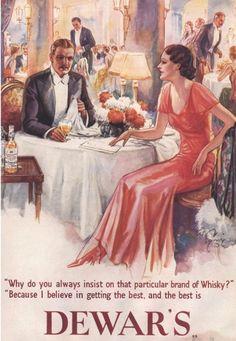 1930s, Dewar's Scotch Whisky Ad