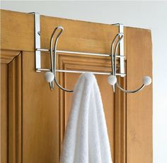 Stainless Steel Over The Door Hooks For Towels