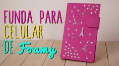 Cómo hacer Funda para Celular de Foamy/Goma Eva y Cartón - DIY| Catwalk ♥