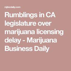 Rumblings in CA legislature over marijuana licensing delay - Marijuana Business Daily
