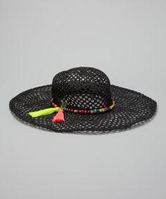 7f345354abb Betsey Johnson Black Rio Floppy Sunhat