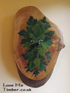 Really please with this piece, The Green man clock. A collaboration with us and a local artist, now available on our web site