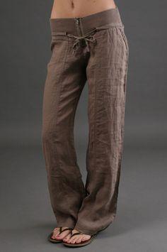 miilla relaxed linen pants