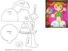 Las chorradikas de Laury: Molde fofucha plana para tapa de cuaderno Foam Crafts, Diy And Crafts, Crafts For Kids, Paper Crafts, Paper Piecing Patterns, Doll Patterns, Scrapbook Paper, Scrapbooking, Diy Notebook