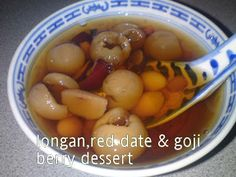 Longan, Red Date & Goji Sweet Dessert