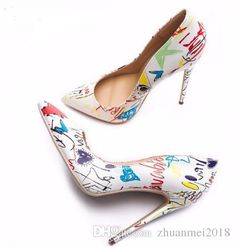 f94e235f3939 2018 Red Lbottom Specia Graffiti Colorful Women Pumps Sexy Stiletto High  Heels Spring Wedding Party Women Shoes Sapato Feminino Hiking Shoes Sperry  Shoes ...