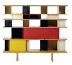 now at cassina, bookcase nuage, from 1956, by charlotte perriand. I always end up with her.