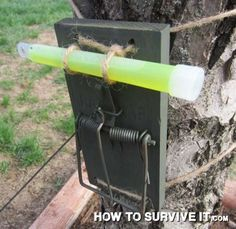Set Up a Glow-In-The-Dark Security System For Your Campsite