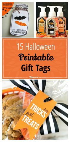 Halloween printable gift tags are an easy way to beautify a small gift, dessert table, and DIY decorating. These Halloween tags are all free printable that you… Halloween Tags, Halloween Teacher Gifts, Halloween Gift Baskets, Teacher Gift Tags, Halloween Favors, Halloween Treat Bags, Vintage Halloween, Halloween Printable, Halloween Makeup