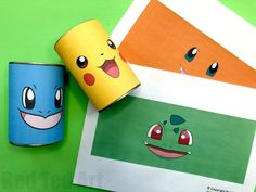 Easy DIY Pokemon Pencil Holder - these are super cute and easy desk tidies and great for back to school. Make them from scratch or use our Free Pokemon Printables. We love Pikachu, Charmanda, Squirtle and Bulbasaur! Pokemon Tins, Pokemon Room, Pokemon Craft, Pokemon Games, Festa Pokemon Go, Pokemon Party, Pokemon Birthday, Pikachu, Pen Holder Diy