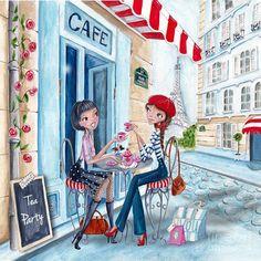 Chá em Paris Mixed Media - Chá em Paris Fine Art Print