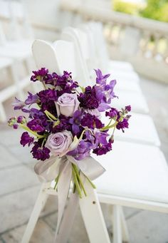 Color Inspiration: Purple Wedding Ideas for a Regal Event - wedding ceremony idea; Michelle Lindsay Photography