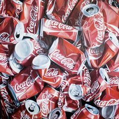 Lot 119  VIDAL DE RUEDA René C. (1944) Coca and Coca  Huille sur toile Signé en bas à droite  H: 100.0 x L: 100.0 cm -  Estimation : 2 500 € - 3 500 € #Artcontemporain #Cocacola #Cola #Auction