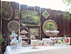 Outdoor Steampunk/Tea Party Wedding idea