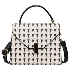 Geometric Print Faux Leather Handbag ($29) ❤ liked on Polyvore featuring bags, handbags, shoulder bags, rosegal, vegan handbags, faux leather shoulder bag, pink purse, handbags shoulder bags and vegan leather purses