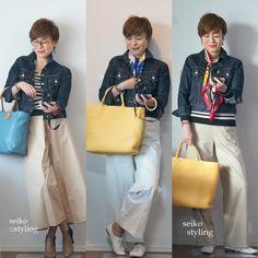 どうして春に着る服、困るの? | 服を変えれば、生き方が輝く!私がはじまるファッションコーデ Sport Casual, Japanese Fashion, Work Fashion, Madewell, Style Me, Winter Fashion, Normcore, Tote Bag, Denim