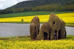 Close Ties, 2006, by Patrick Dougherty; Scottish Basketmakers Circle, Dingwall, Scotland. Photo: Fin Macrae.