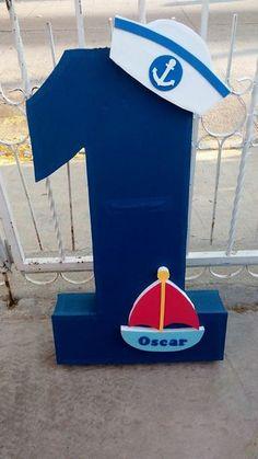 Piñata #1 tema marinero Sailor Birthday, Baby Boy 1st Birthday, Boy Birthday Parties, Sailor Theme Parties, Sailor Party, Nautical Birthday Cakes, Nautical Party, Party Decoration, Baby Party