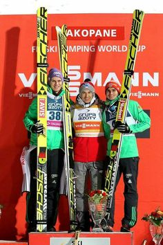 Andreas Wellinger, Kamil Stoch, Richard Freitag  skijumping  skijumper Andreas Wellinger, Ski Jumping, Jumpers, Kiwi, Athletes, Skiing, Competition, Sky, Celebrities